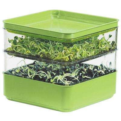 2-Tiered Indoor Seed Sprouter Counter-top Growing Kit