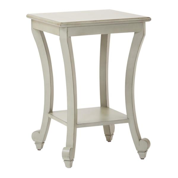 OSP Home Furnishings Daren Antique Grey Accent Table DAR6504-YM19