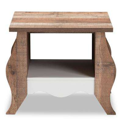 Raynell Oak Brown End Table