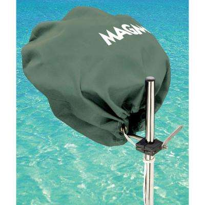 Marine Kettle Grill Original Size Cover and Tote Bag, Color: Forest Green