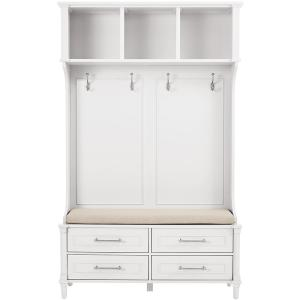 Home Decorators Collection Aberdeen Polar White Double Hall Tree 9950010410 The Home Depot