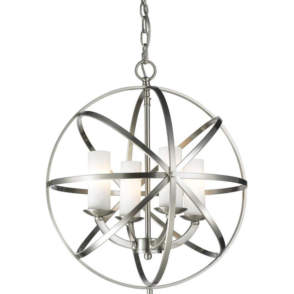 Gala 4-Light Brushed Nickel Pendant
