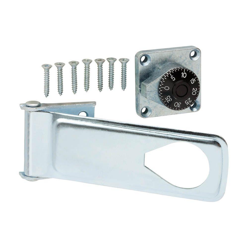 Everbilt 6 In Zinc Plated Combination Lock Hasp 15311