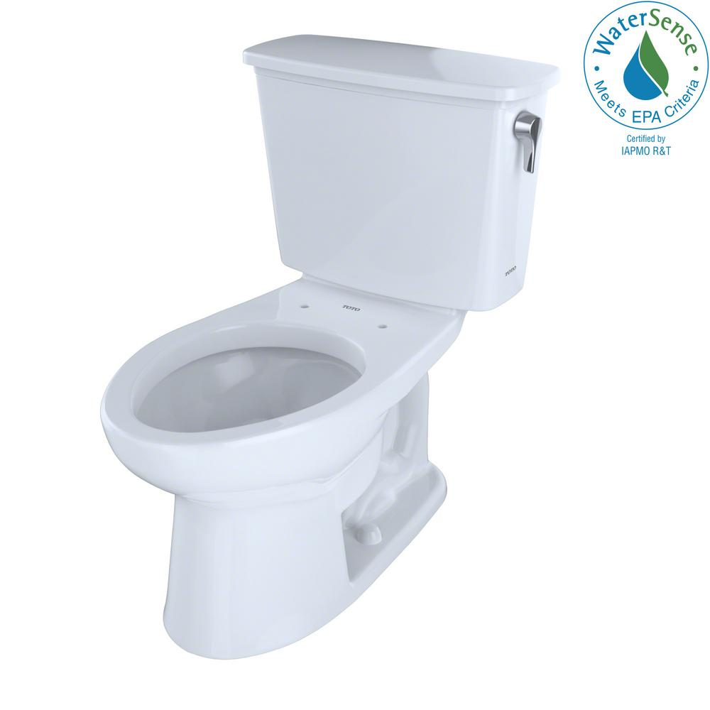 Surprising Toto Eco Drake Transitional Ada 2 Piece 1 28 Gpf Single Flush Elongated Toilet With Right Hand Trip Lever In Cotton White Lamtechconsult Wood Chair Design Ideas Lamtechconsultcom
