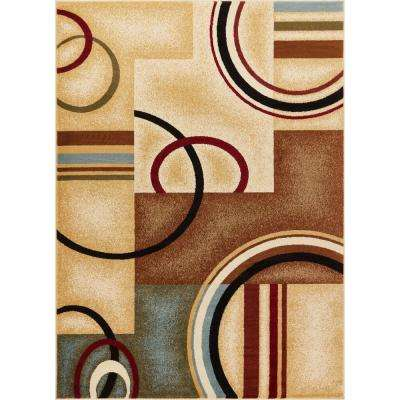 Barclay Arcs and Shapes Ivory 9 ft. x 13 ft. Modern Geometric Area Rug