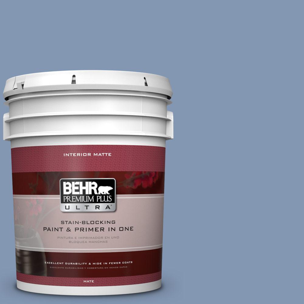 BEHR Premium Plus Ultra 5 gal. #S530-4 Jet Set Matte Interior Paint