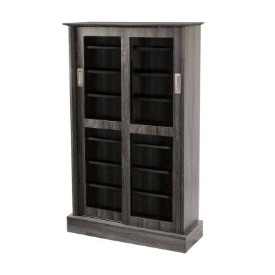 Driffield Gray Adjustable Media Cabinet
