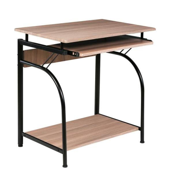 OneSpace Maple Stanton Computer Desk with Pullout Keyboard Tray 50-1001MP