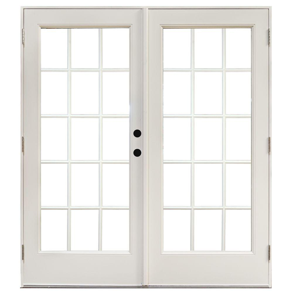 MP Doors 60 In. X 80 In. Fiberglass Smooth White Left Hand Outswing