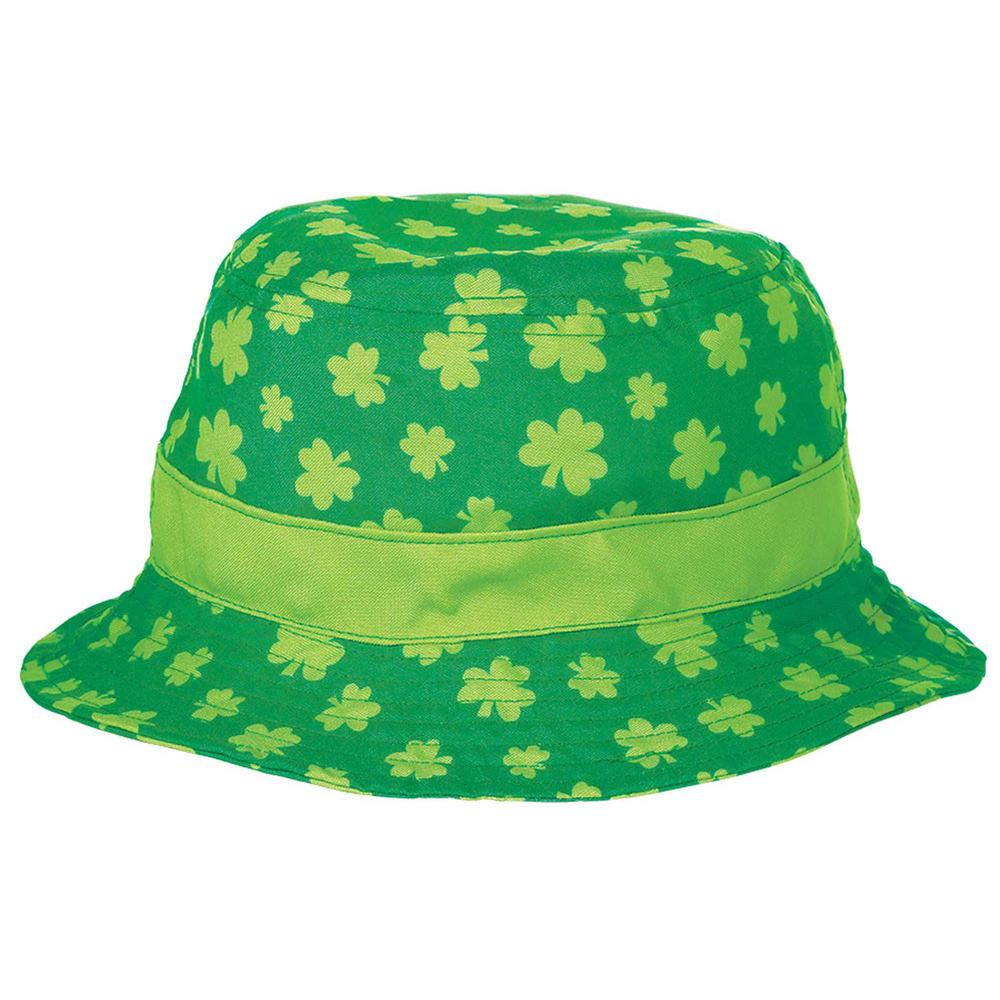 0b2a6c93eaac4 Amscan Green Shamrock St. Patrick s Day Bucket Hat (2-Pack)-250535 ...