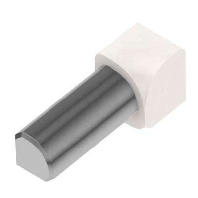 Rondec White Color-Coated Aluminum 3/8 in. x 1 in. Metal 90 Degree Inside Corner