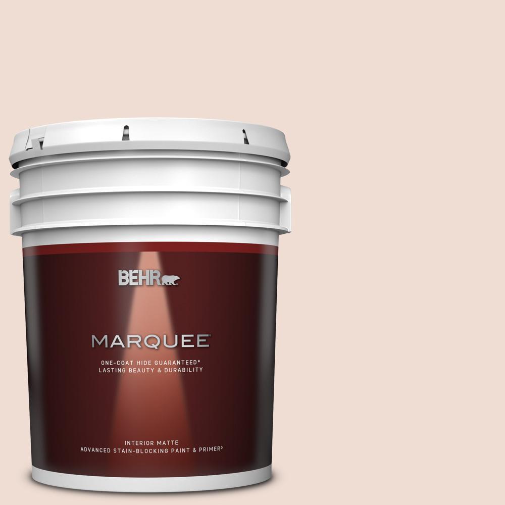 Behr Marquee 5 Gal Mq3 34 Stolen Kiss One Coat Hide Matte Interior Paint Primer 145005 The Home Depot