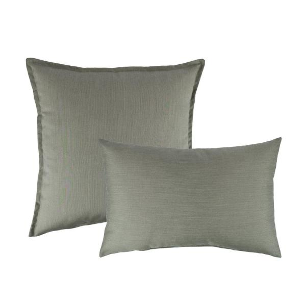 Austin Horn Collection Sunbrella Spectrum Dove Combo Outdoor Pillow AHC00175-COM