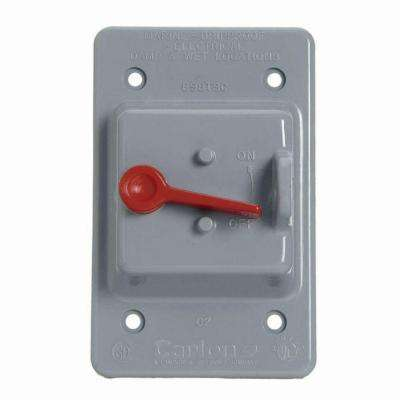 1-Gang Weatherproof Toggle Switch Electrical Box Cover (Case of 5)