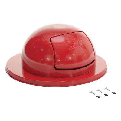 Steel Waste Disposal Top For Drum-Red