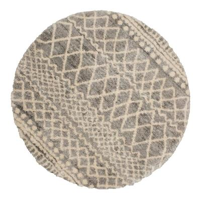Caspian Gray 5 ft. x 5 ft. Round Moroccan Area Rug