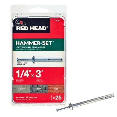 1/4 in. x 3 in. Hammer-Set Nail Drive Concrete Anchors (25-Pack)