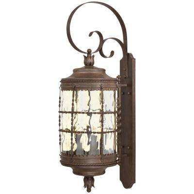 Mallorca 5-Light Vintage Rust Powder Coat Wall Lantern Sconce