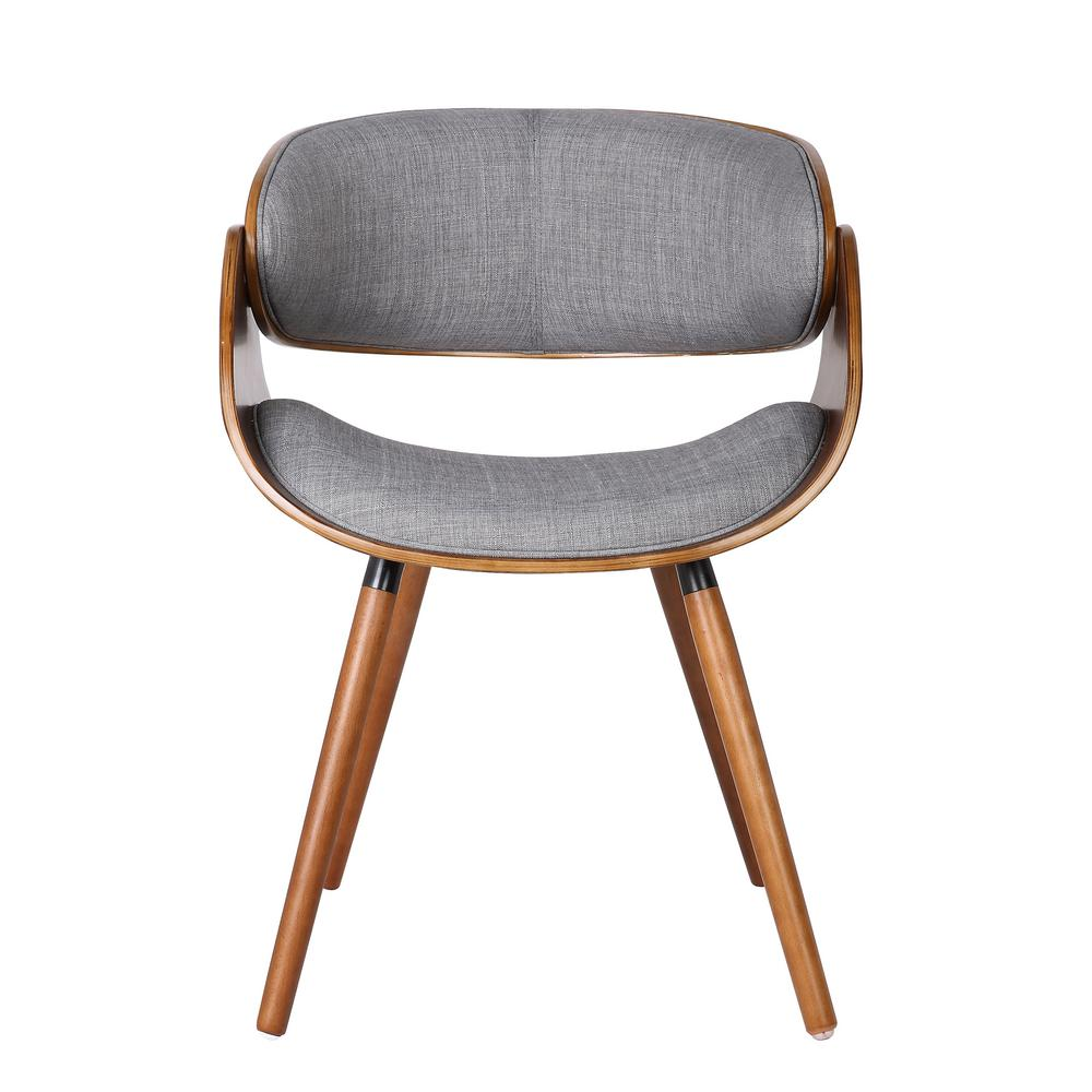 Gray Wrap Around Back Dining Chair