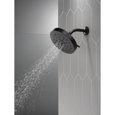 4-Spray Pattern with 1.75 GPM 8 in. Wall Mount Fixed Shower Head with H2Okinetic UltraSoak Spray in Matte Black