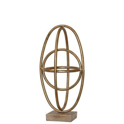 12.25 in. H Sculpture Decorative Sculpture in Gold Leaf