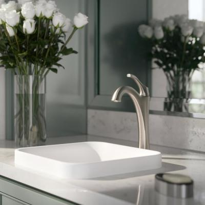 Arlo Spot-Free all-Brite Brushed Nickel Single Handle Vessel Bathroom Faucet with Pop Up Drain