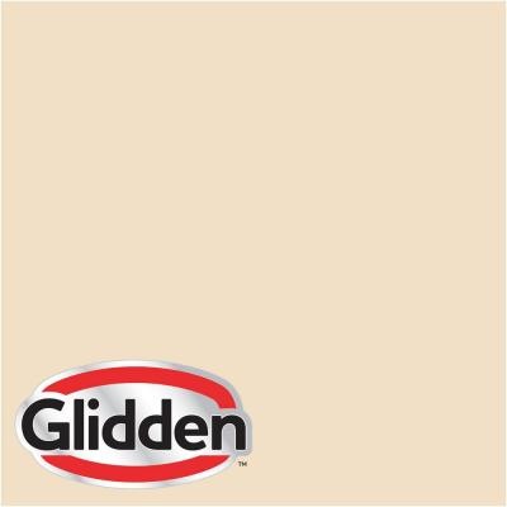 Glidden Premium 5 gal. #HDGY10U Macadamia White Satin Interior Paint with Primer