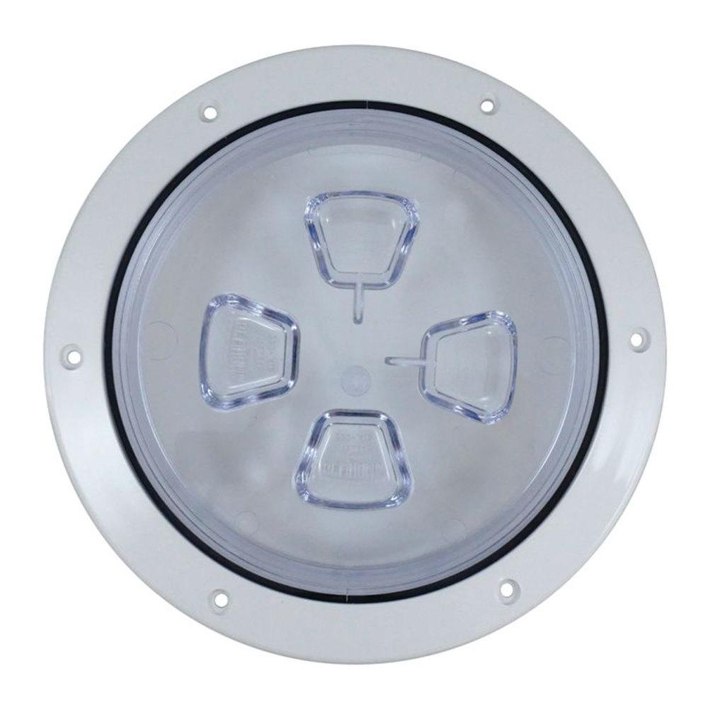 "Beckson DP84-W Deck Plate-Screw Out-Diamond Texture White 8/"""