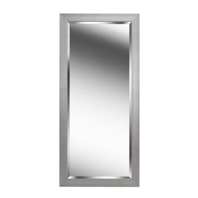 Durham Brushed Steel Leaner Mirror