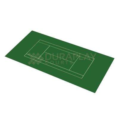 58 ft. 10 in. x 119 ft. 10 in. Slate Green and Slate Green Full Tennis Court
