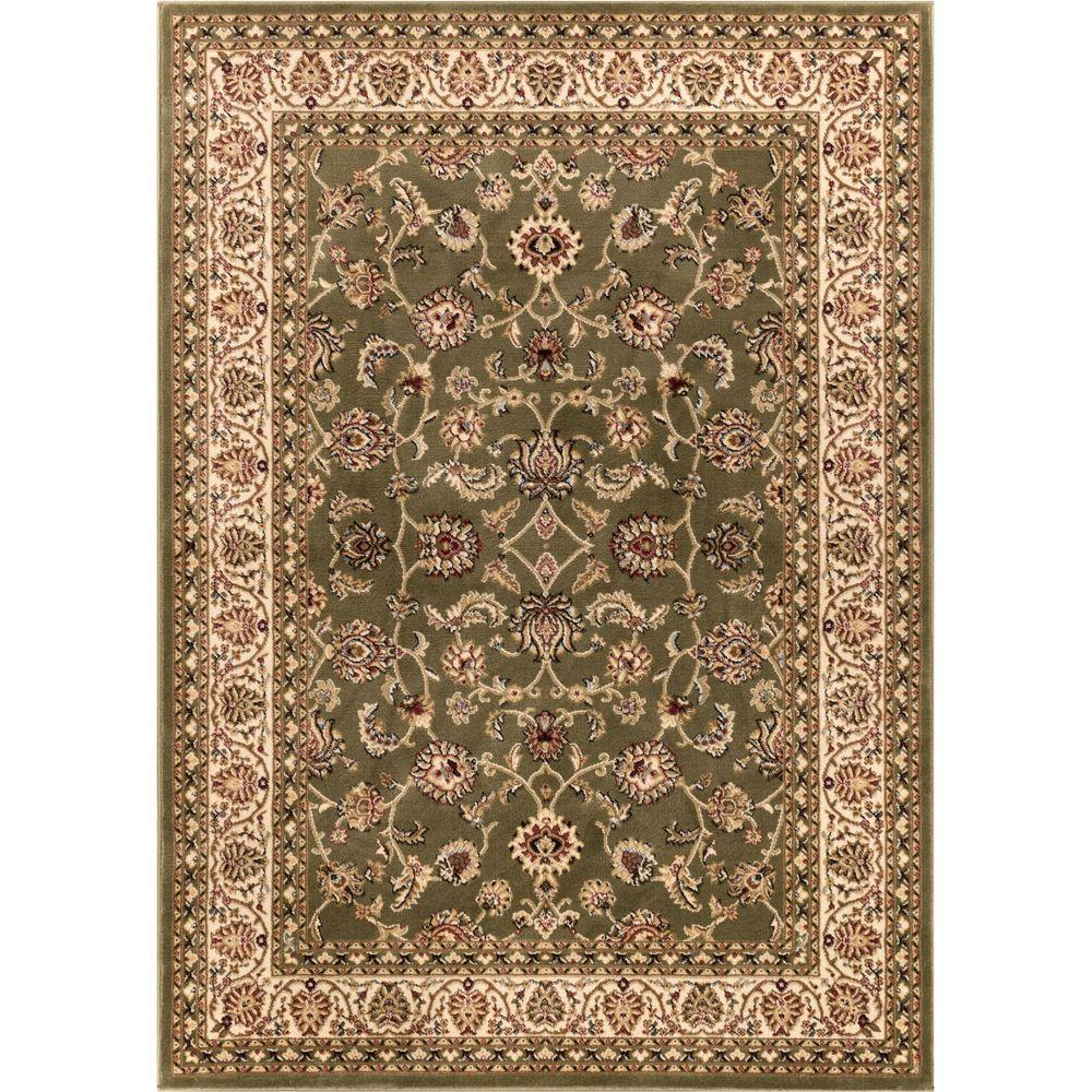 Infinity Home Source Barclay Sarouk Green 7 ft. 10 in. x ...