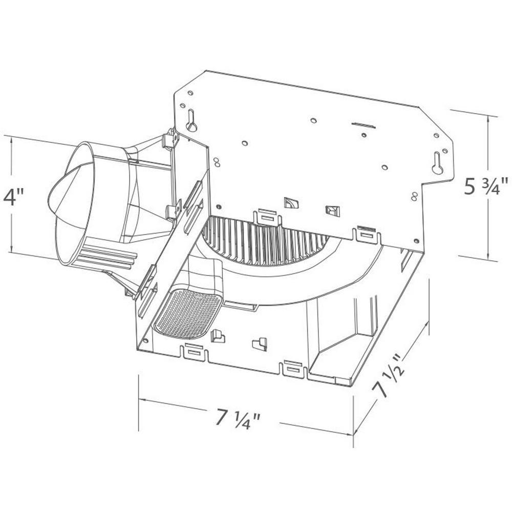 Bluetooth Ceiling Fan: Bathroom Ceiling Exhaust Fan Bluetooth Speaker Galvanized