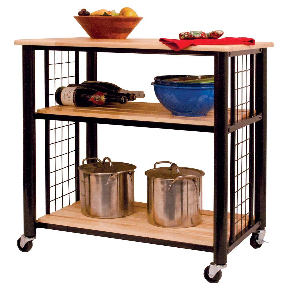 Catskill Craftsmen Contemporary Black Kitchen Cart-80047