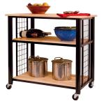 Contemporary Black Kitchen Cart