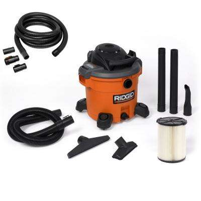 12 Gal. 5.0-Peak HP Wet Dry Vac with Bonus 20 ft. Tug-A-Long Hose
