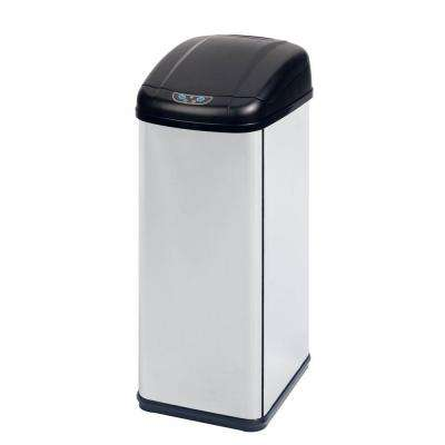 14 Gal. Stainless Steel Square Motion Sensing Touchless Trash Can
