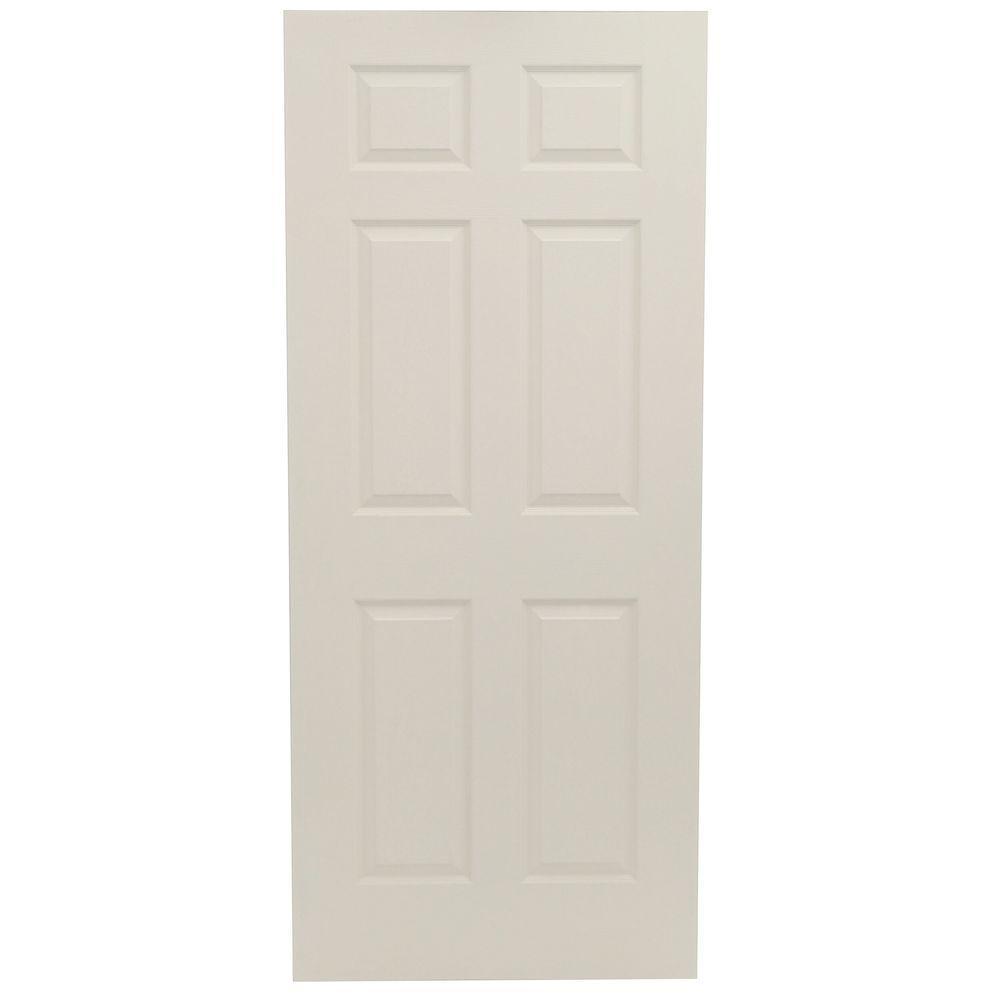 JELD-WEN 30 in. x 80 in. Colonial Primed Textured Molded Composite MDF Interior Door Slab