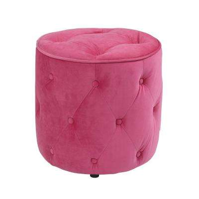 Curves Pink Accent Ottoman