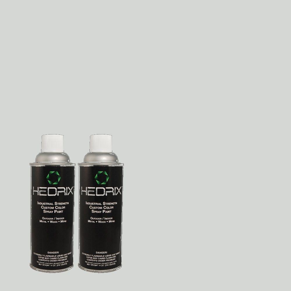 Hedrix 11 oz. Match of 3B50-2 Windy Blue Gloss Custom Spray Paint (2-Pack)