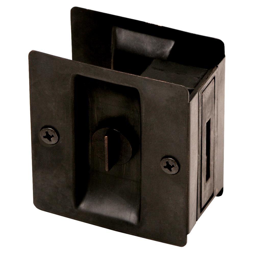 Design House Oil-Rubbed Bronze Pocket Door Lock Privacy Hardware