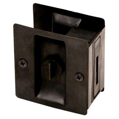 Oil-Rubbed Bronze Pocket Door Lock Privacy Hardware