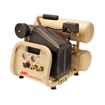 Reciprocating 4 Gal. 2 HP Portable Electric Twin Stack Air Compressor
