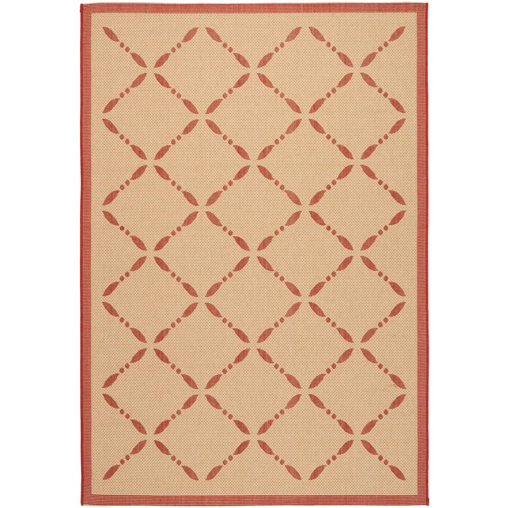 Martha Stewart Cream/Red 4 ft. x 5 ft. 7 in. Indoor/Outdoor