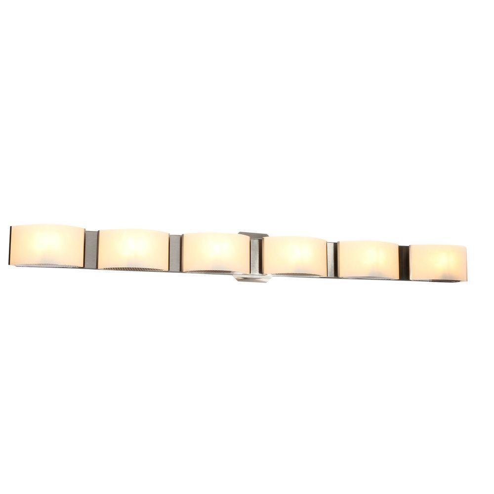 Dakota Collection 6-Light Satin Nickel Wall Sconce