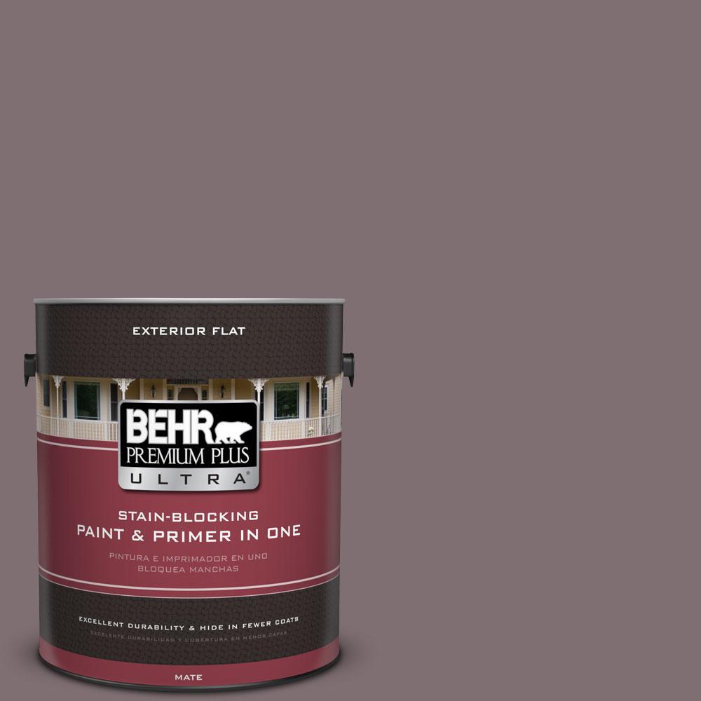 BEHR Premium Plus Ultra 1-gal. #N110-5 Royal Raisin Flat Exterior Paint