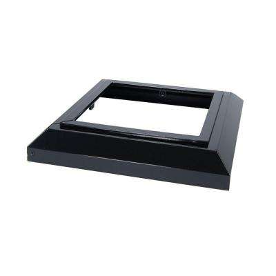 6 in. x 6 in. Gloss Black Aluminum Deck Post Base Cover