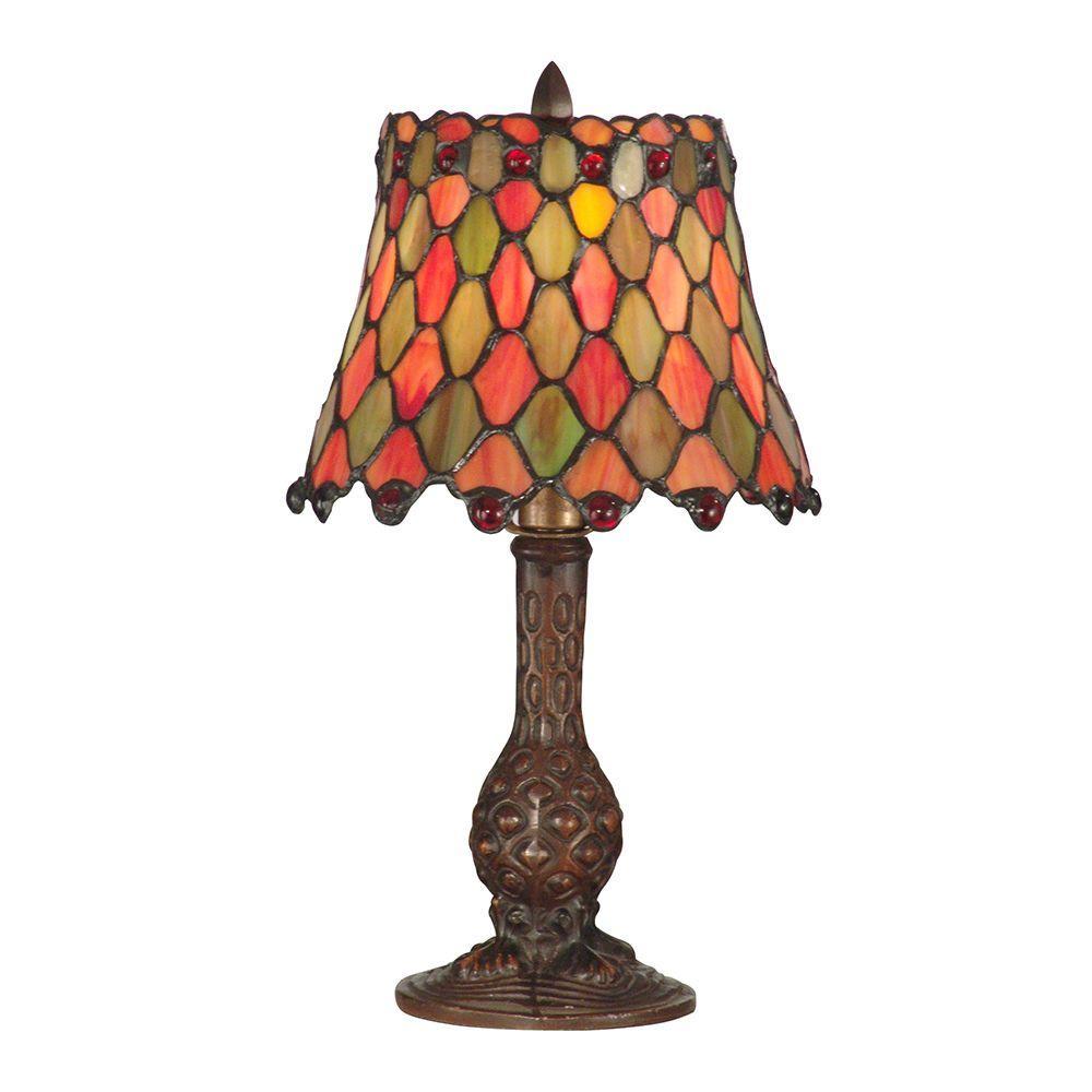 13.5 in. Manti Antique Brass Accent Lamp