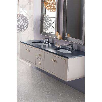 Silverlake 72 in. Single Bath Vanity in Mountain Mist with Quartz Vanity Top in Charcoal Soapstone with White Basin