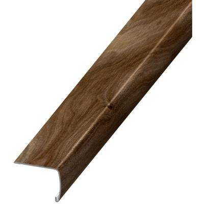 Noble Mahogany Grey 7 mm Thick x 2 in. Wide x 94 in. Length Coordinating Vinyl Stair Nose Molding