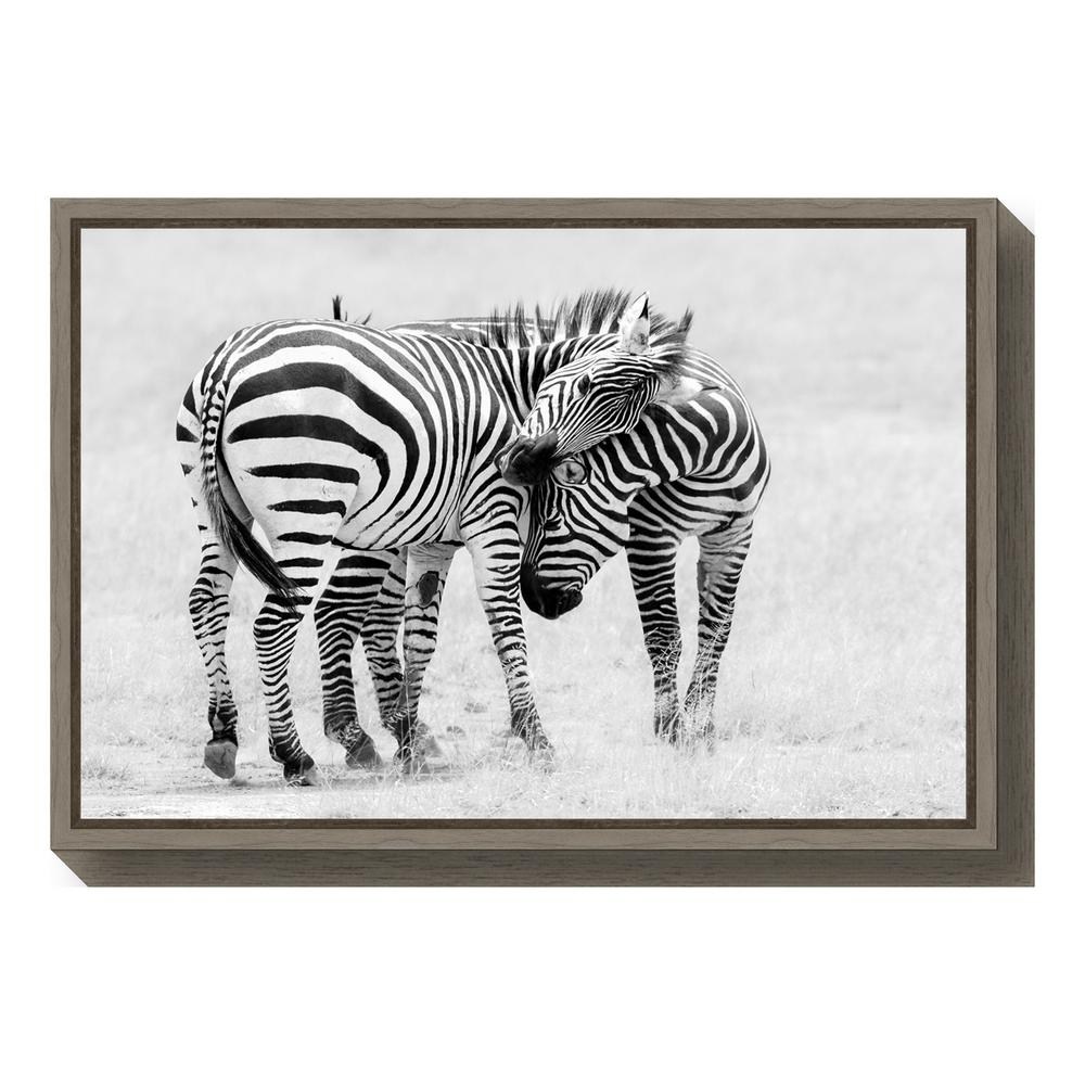 """Tender Moment"" by John Fan Framed Canvas Wall Art"